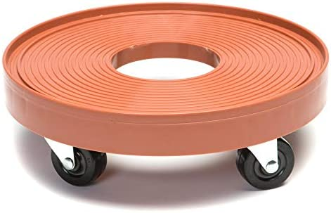 DeVault DEV3015TC 12 Inch Plant Dolly with Hole Terra Cotta