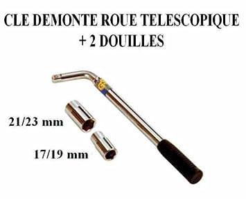 Peraline - Llave para desmontar ruedas de 17-19 mm, con boquilla de 21-23 mm para coche, 4 x 4 o camión: Amazon.es: Coche y moto