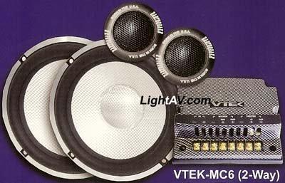 Earthquake VTEK-MC6 6.5 2 Way AudioPhile Component Set