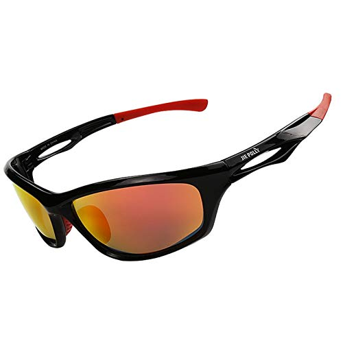 Adisaer Sport Brille durchsichtig Colorful Polarized Sports Suit Riding Glasses Goggles Black Red for Adults (Red Tube Brille)