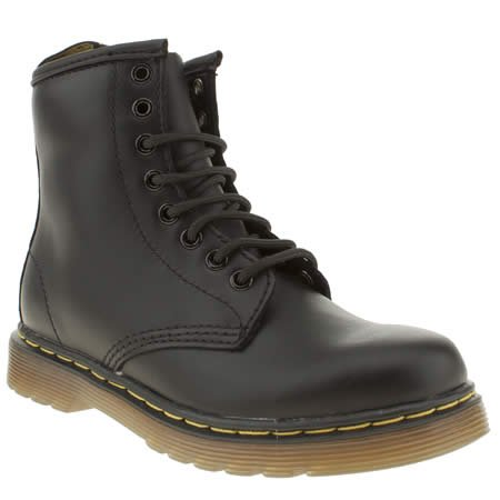 Dr Martens DELANEY 15382001 Junior Lace-up Boot 12 BALCK SOFTLY