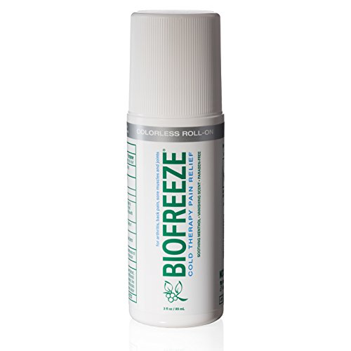 Biofreeze Pain Relief Gel for Arthritis, 3 oz. Rollon Topical Analgesic, Fast Acting and Long Lasting Cooling Pain Reliever Cream for Muscle Pain, Joint Pain, Back Pain,Colorless Formula, 4% ()