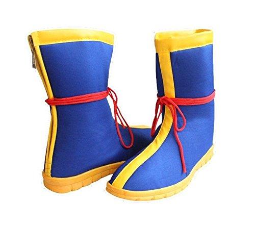 Super Saiyan Goku Costume (SSJ Dragon Ball Z Super Saiyan Goku cosplay shoes boots (US-8_1/2))