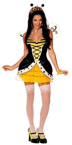 [Queen Beeotch Costume - Medium/Large - Dress Size 12-14] (Hollywood Fancy Dress)