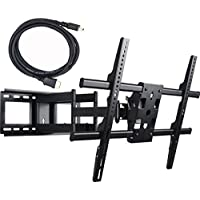 VideoSecu 25 inch Extension Heavy Duty Dual Arm Articulating TV Wall Mount Bracket for Most 37 39 40 42 46 47 48 50 52 55 58 60 62 65 70 FLAT Plasma LCD TV 1H8