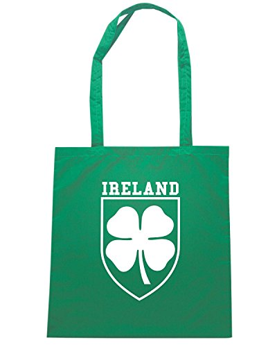 T-Shirtshock - Bolsa para la compra T0648 IRELAND calcio ultras Verde