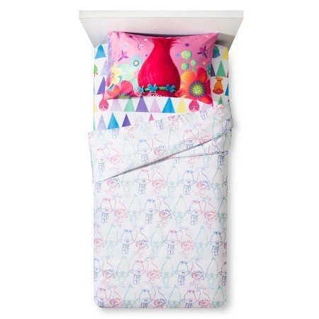 Dreamworks Trolls 3 Piece Twin Sheet Set