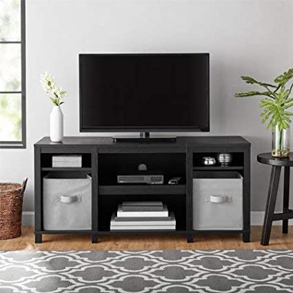 Amazon Com Mainstay Parsons Cubby Tv Stand Holds Up To 50 Tv