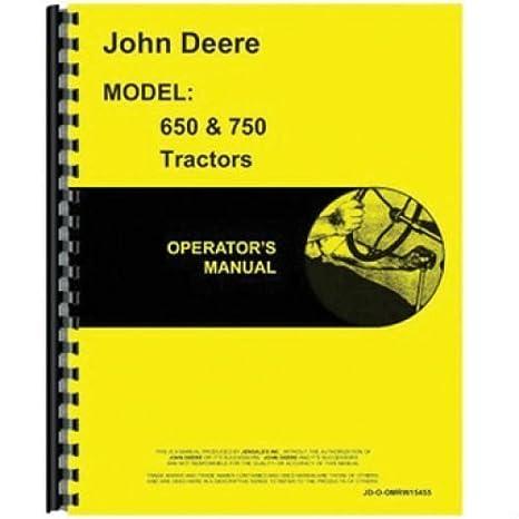 amazon com operator s manual jd o omrw15455 john deere 750 650 rh amazon com John Deere ManualsOnline John Deere 5065E Tractor Model