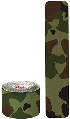 Mueller Sports Medicine Kinesiology Tape I-Strip Roll (20 Strips), Green Camo, 2