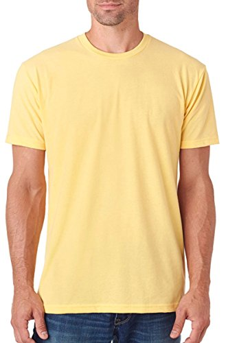 Next Level Apparel Men's Premium Fitted Sueded Crewneck T-Shirt, Banana Cream, Medium - Banana Fitted Jersey T-shirt