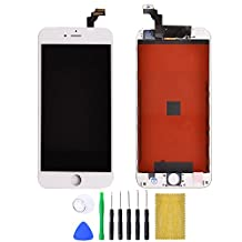 "Shinningtop Replacement Digitizer and Touch Screen LCD Assembly with Tools for iPhone 6 4.7"" (white)"