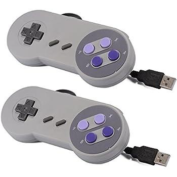 XCSOURCE 2-Piece SNES Classic USB Super Nintendo Game Controller Gamepad Joystick for Windows PC/MAC AC440