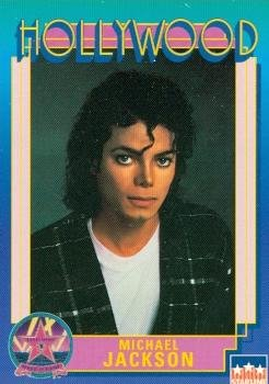 Trading Jackson Card - Michael Jackson trading card (Thriller Beat It Off The Wall Singer) 1991 Hollywood Walk of Fame #56