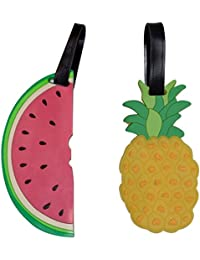 Cute Luggage Tags for Womens Travel / Set of Suitcase ID Tags