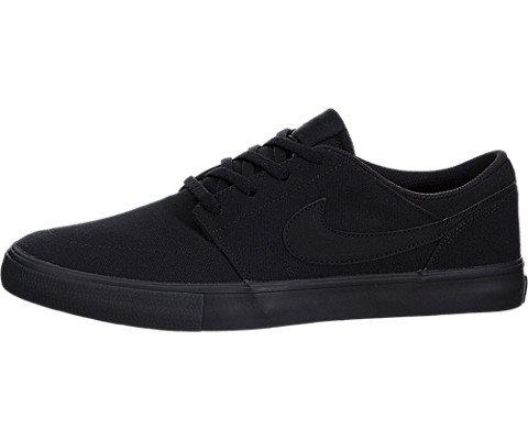 Nike 880268-001 : Men's Portmore II Solar Canvas Black/Black Skate Shoe (12 D(M) US)