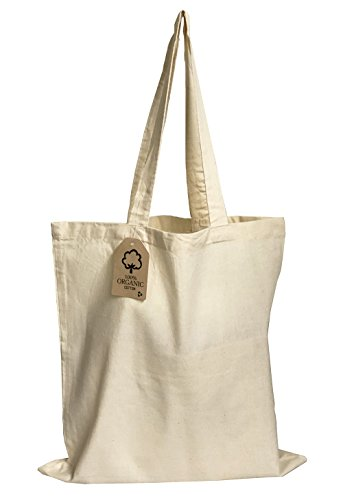 - Set of 12 - Organic Cotton Canvas Tote Bags 15
