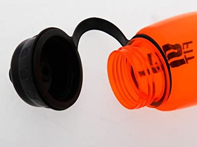 2x BPA FREE 28oz Sport Fitness Exercise Squeeze Pop-Top Wide Mouth Water Bottle