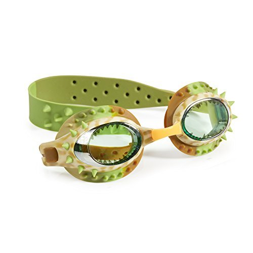 [Swimming Goggles For Boys - Prehistoric Times Kids Swim Goggles By Bling2o (Carnivore Brown)] (Scuba Costume Child)