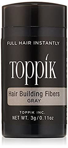 TOPPIK Hair Building Fibers, Gray, 0.11 oz.