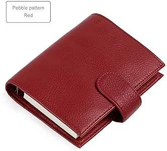 ZFSWMY Cuaderno A7 Tamaño Silver Binder Mini Agenda