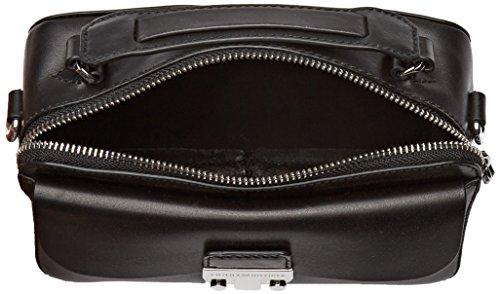 Hilfiger Bandolera Tommy Hardware Negro nero 5x3x10 Mujer Mini X Bolso Para Moda Pelle Sopra Cm whl BcawxdqFAa