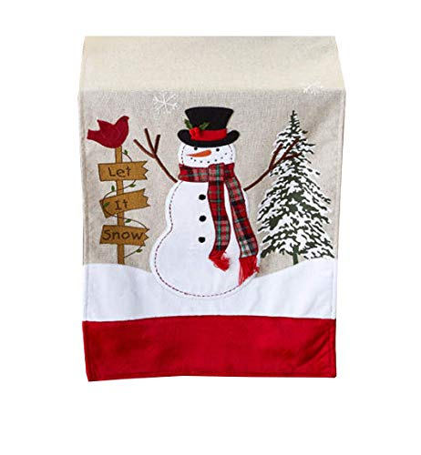 (Snowman Table Runner Let It Snow Appliqued 13 x 72 inches)