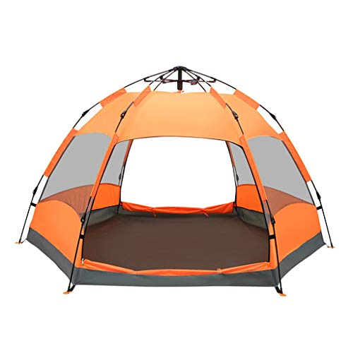 IDWO Camping Tent Automatic Pop Up Tent Waterproof Hexagonal Tent Outdoor Large 5-8 Person 4 Season Family Tent
