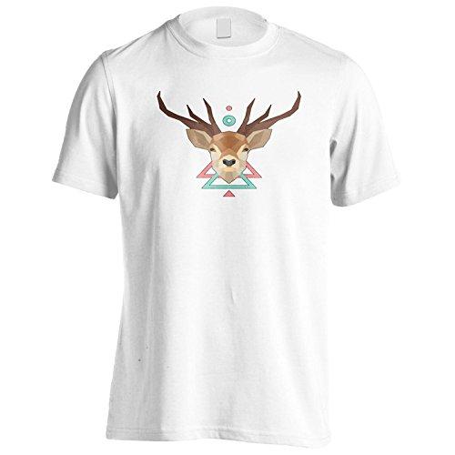 Neue Hirsche Wildes Geometrisches Tier Herren T-Shirt l973m