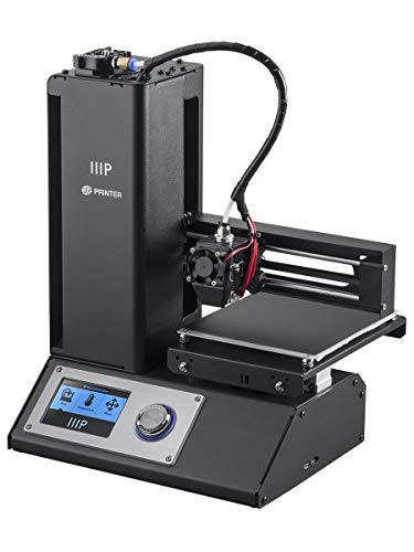 Monoprice 121711 Select Mini 3D Printer V2 - Black With Heated (120 x 120 x 120 mm) Build Plate, Fully Assembled + Free Sample PLA Filament And MicroSD Card Preloaded With Printable 3D Models