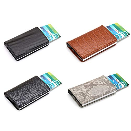 Clearance 2019 New Aluminum Wallet Credit Card Holder Metal with RFID Blocking Slim Carbon Fiber Card ID Wallet by Francis4 (Image #5)