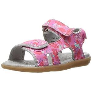 See Kai Run Girls' Makena Water Shoe, Hot Pink Floral, 6 M US Toddler