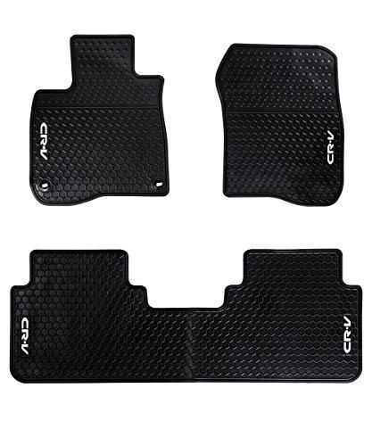 HD-Mart Car Floor Mats Rubber for Honda CR-V 5th Generation 2017-2018-2019 Custom Fit Black Auto Floor Liner Mat All Weather, Heavy Duty & Odorless