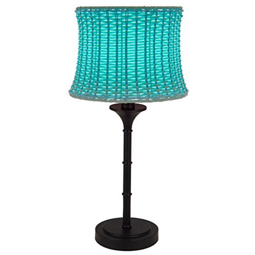River of Goods 15066 Outdoor Basketweave 25.25 H Table Lamp, Sky Blue by River of (Basketweave Lamp)