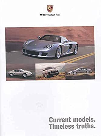 2004 porsche 996 carrera gt boxster gt2 gt3 brochure entertainment collectibles. Black Bedroom Furniture Sets. Home Design Ideas