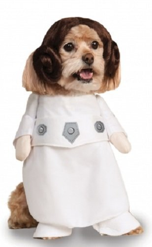 Pet Dog Cat Puppy Animal Star Wars Princess Leia Halloween Fancy Dress Costume Clothes Outfit (Extra Large) -