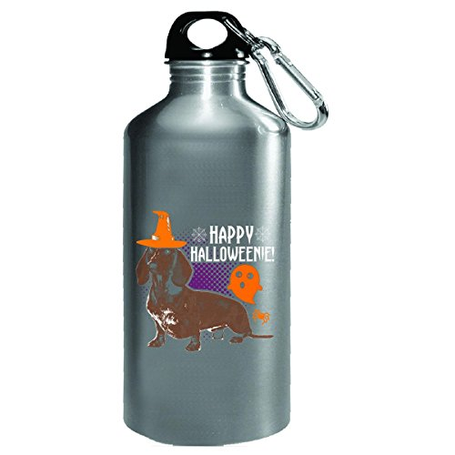 Happy Halloweenie Halloween Dachshund - Water Bottle ()