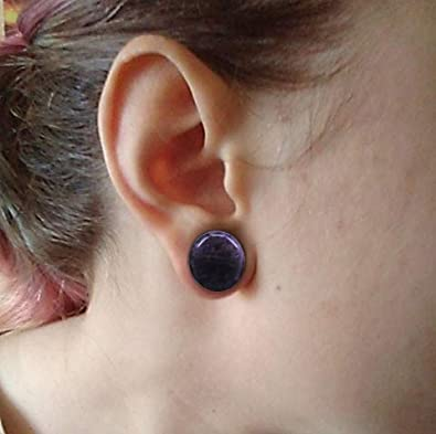 """PiercingCool 6Pairs 4g-11//16/"""" Multiple Stone Single Flared Ear Plugs with Silicone O-Ring Expander Gauges"""