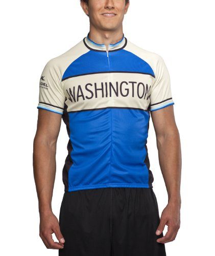 Washington Classic Racer Cycling Jersey, Blue, Men's Club Cut