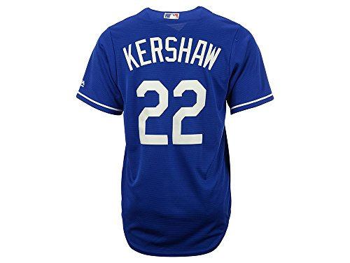 Clayton Kershaw Los Angeles Dodgers #22 MLB Men's Cool Base Alternate Jersey Blue (XXlarge)