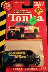 Tonka Die Cast Collection 2 Chevy Express Van (Tonka Van)