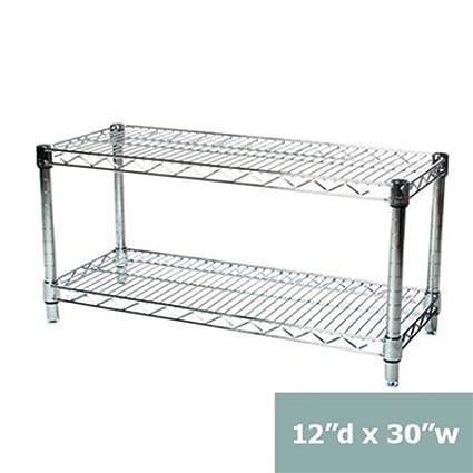 12d x 30w chrome wire shelving - Chrome Wire Shelving