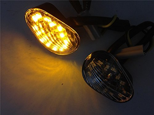 Smoke Euro LED Flush Mount Turn Signal for YAMAHA YZF R1 R6 R6S 2006 2007 2008 - Yamaha R6 2006