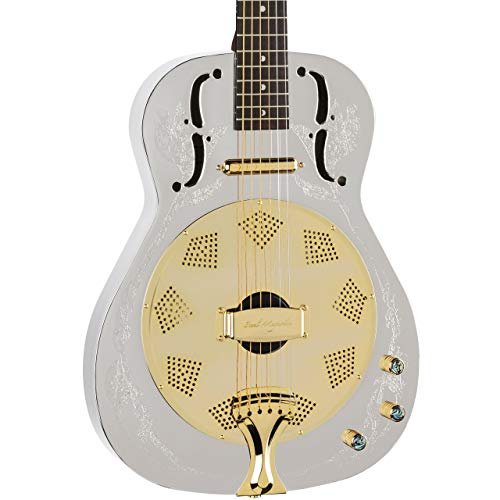 Luna Steel Magnolia Resonator Electric - Resonator Dean Guitar Chromes