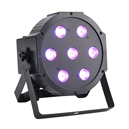 GBGS LED Up Lighting RGBW LED Par Lights 10W x 7 LED DMX 4-in-1 Par Can Stage Lighting Super Bright for Wedding DJ Event Party Show (Led Par Lights)