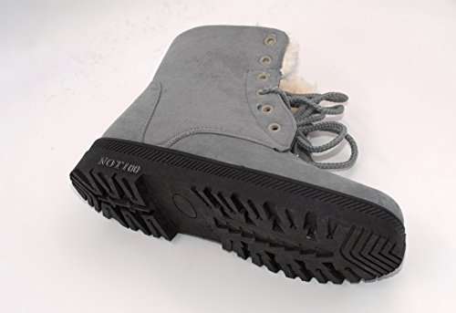 Warm Waterproof Woman NOT100 suede Boot Fashion Gray fFCcdqc4