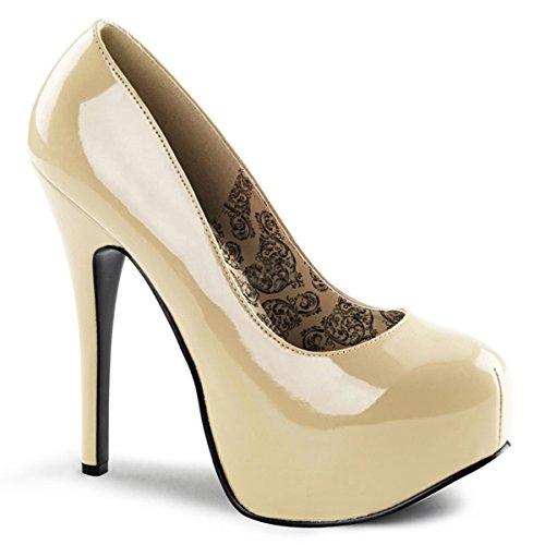 Heels-Perfect - Zapatos de vestir de material sintético para mujer beige - Beige (Beige)