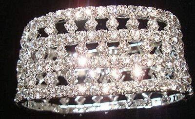 FidgetFidget New Lot Rows Hollow Fancy Stretchy More Styles Crystal Rhinestone Bracelets 12 Pcs #15