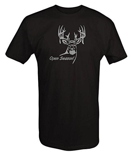 Price comparison product image Stealth - Big Buck Open Season! Deer Hunting Rack Antlers T Shirt - 5XL