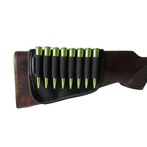 Tourbon Black Buttstock Cartridge Holder 8 Round Rifle Bullet Ammo (Rifle Ammunition Carrier)